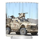 A Marine Sniper Provides Security Shower Curtain