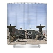 A Marine Unmanned Aerial Vehicle Shower Curtain