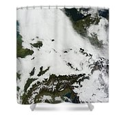 A Massive Cloudbank Sprawled Shower Curtain