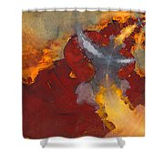 A Meeting Of Monks Shower Curtain