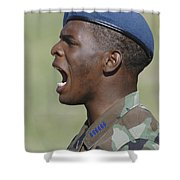 A Member Of The U.s. Air Force Academy Shower Curtain by Stocktrek Images