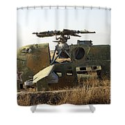 A Mi-35 Attack Helicopter At Kunduz Air Shower Curtain