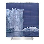 A Midnight Cruise Around The Ilulissat Shower Curtain