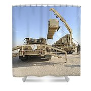 A Missile Reload Certification Shower Curtain