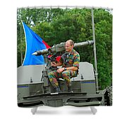 A Mistral Surface To Air Missile Sam Shower Curtain by Luc De Jaeger