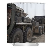 A Mk48 Logistics Vehicle System Shower Curtain