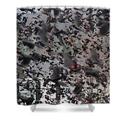 A Mob Of Red-winged Blackbirds Shower Curtain