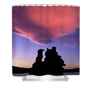 A Mono Lake Sunset Shower Curtain