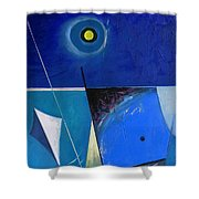 A Moon Story Shower Curtain