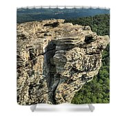 A Mountain Perspective Shower Curtain