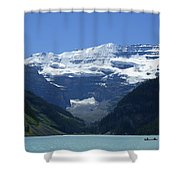 A Mountain Range With A Lake In The Shower Curtain