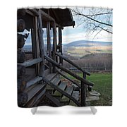 A Mountain View Shower Curtain