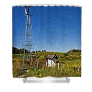 A Moving Memory Impasto Shower Curtain