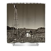 A Moving Memory Monochrome Shower Curtain