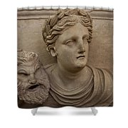 A Nabatean Bust Of A Woman Holdig Shower Curtain