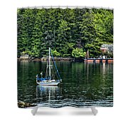 A Nice Day For A Sail Shower Curtain