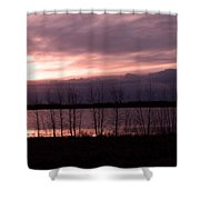 A Night Of Pink Shower Curtain