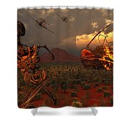 A Pair Of P-51 Mustang Fighter Planes Shower Curtain