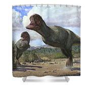 A Pair Of Pycnonemosaurus Nevesi Shower Curtain