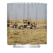 A Pair Of U.s. Army Cougar Mrap Shower Curtain