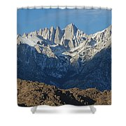 A Panoramic View Of Mount Whitney Shower Curtain
