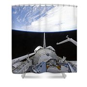 A Partial View Of The Tranquility Node Shower Curtain by Stocktrek Images