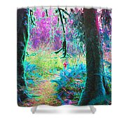 A Path Along A River Shower Curtain