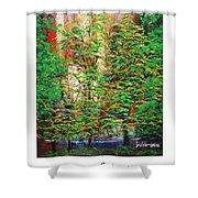 A Peaceful Place Poster Shower Curtain