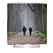 A Peaceful Stroll Shower Curtain