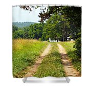 A Perfect Road Shower Curtain