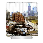 A Philadelphian View Two Shower Curtain