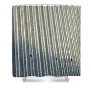 A Piece Of Metal Sheeting At A Sawmill Shower Curtain