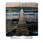 A Pier In The Water Shower Curtain