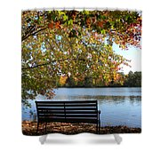 A Place For Thanks Giving Shower Curtain