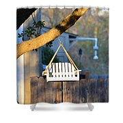 A Place To Perch Shower Curtain