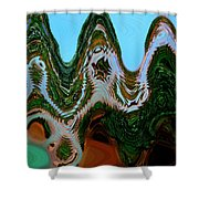A Play  With Colors Shower Curtain