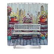A Porch In Alaska Shower Curtain
