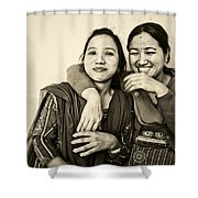 A Portrait Of Good Friends Shower Curtain