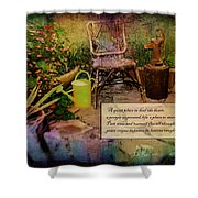 A Prayer Expressed Shower Curtain