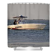 A Proper Fishing Boat Shower Curtain