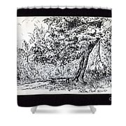 A Quiet Corner 1958 Shower Curtain