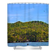 A Quiet Day Shower Curtain