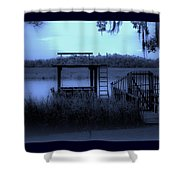 A Quiet Place By The Marsh Shower Curtain