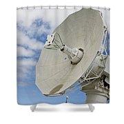 A Radar Dish Aboard Mobile At-sea Shower Curtain