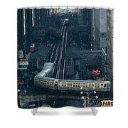 A Railway Encircles Thirty-five Blocks Shower Curtain