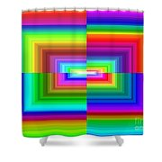 A Rainbow Is A Rainbow Is A Rainbow Shower Curtain