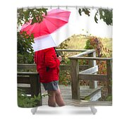 A Rainy Summer's Day Shower Curtain