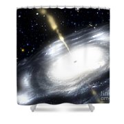 A Rare Galaxy That Is Extremely Dusty Shower Curtain by Stocktrek Images
