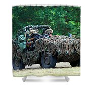 A Recce Unit Of The Belgian Army Shower Curtain