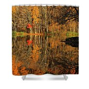 A Reflection Of October Shower Curtain